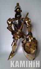 Аксесуар Лицар з античним годинником в щиті 55 см.