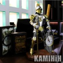 Аксесуар Лицар з годинником з нержавіючої сталі і латуні 60 см.