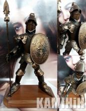 Аксесуар Лицар з візерунками на щиті і списі 50 см. з підставкою