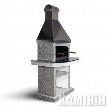 Барбекю Hogar Steel одиночна з накривками граніт Лабрадорит