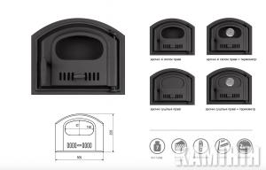 Чугунные дверцы арочные 305x250 мм