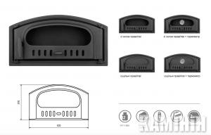 Чугунные дверцы для печи 570x370 мм