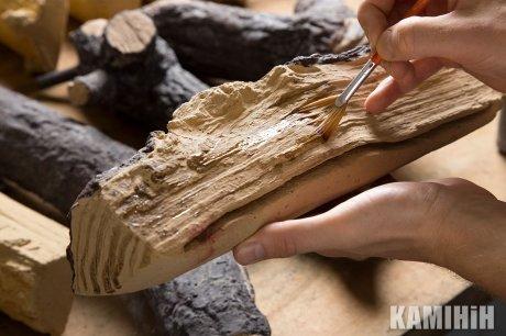 Декор пальника: керамічні поліна