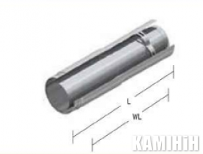 Димохід Kalfire ADJUSTABLE PIPE SECTION 500 MM 2 PARTS