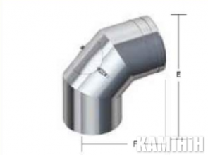 Димохід Kalfire ELBOW 90° WHITH INSPECTION DOOR