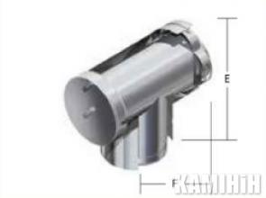 Kalfire T-PIECE 90°  з покриттям та вимірювальною точкою