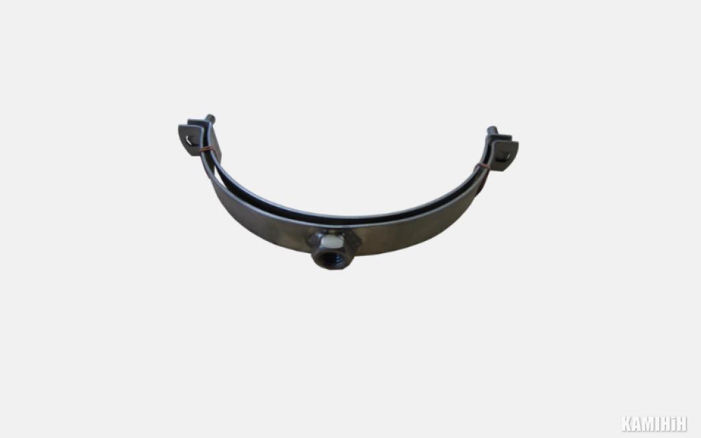 Хомут нержавеющая сталь с гайкой M12 ø 200 mm 650 °C