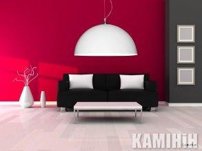 Дизайнерская лампа с двухсторонним покрытием Ø120 см