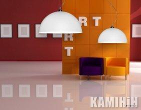 Дизайнерська лампа з двостороннім покриттям Ø70 см