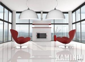 Дизайнерская лампа с двухсторонним покрытием Ø90 см