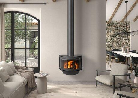 Дизайнерский камин Rocal Ronde Frontal
