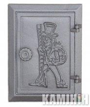 Дверцята чавунні DKR4 з вкладкою
