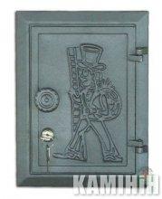 Дверцята чавунні DKR4 з замком