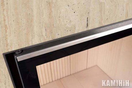 Дверний молдінг 51/51/51, нерж. сталь, лівостороннє відкриття