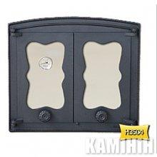 Дверцята чавунні з склом BATUMI 2