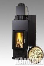 Fireplace insert Iwona Pellets FELIX AQUA LONG 13 kW Triple glass