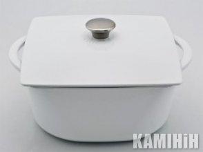 Горшок чугунный эмалированный Modern 3л. белый