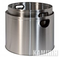 Basket for firewood (2 PCs.), stainless steel