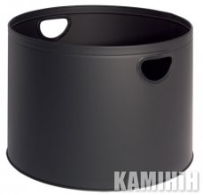 Basket for firewood, black, diameter: Ø 44 cm, height: 32 cm