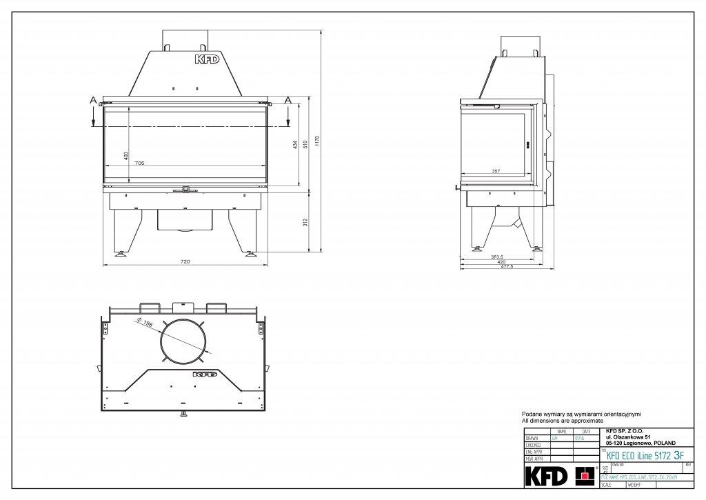 Камінна топка KFD ECO iLINE 5172 3F