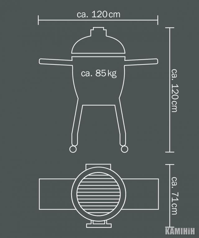 Керамічний гриль Monolith Classic з бічними полицями
