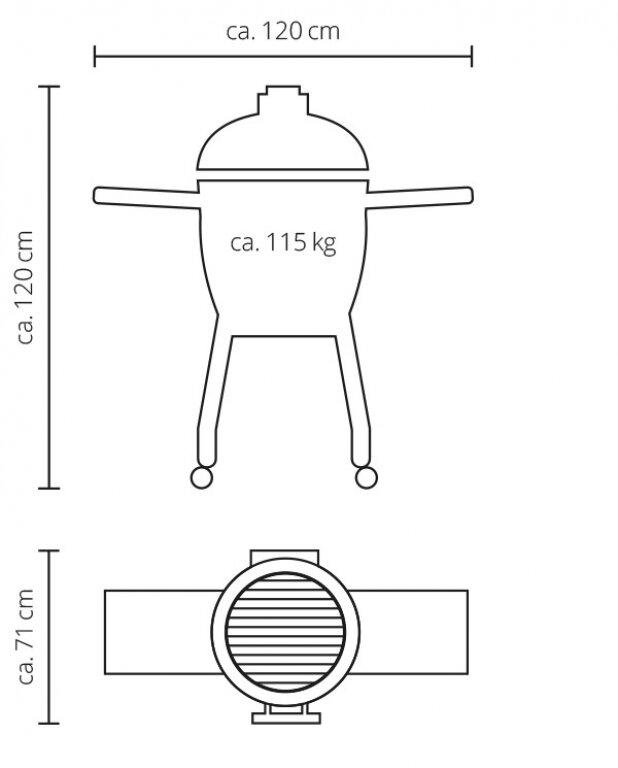 Керамічний гриль Monolith Classic PRO-SERIES 1.0 на ніжках