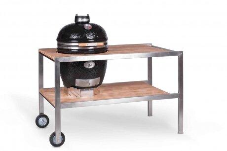Комплект - керамический гриль Monolith Classic с деревянным столиком