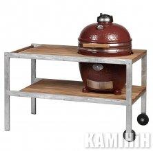 Керамический гриль Monolith Classic с деревянным столиком