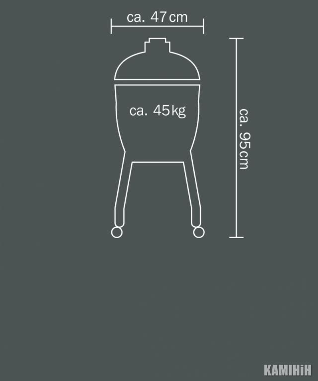 Керамічний гриль Monolith Junior на сталевих ніжках