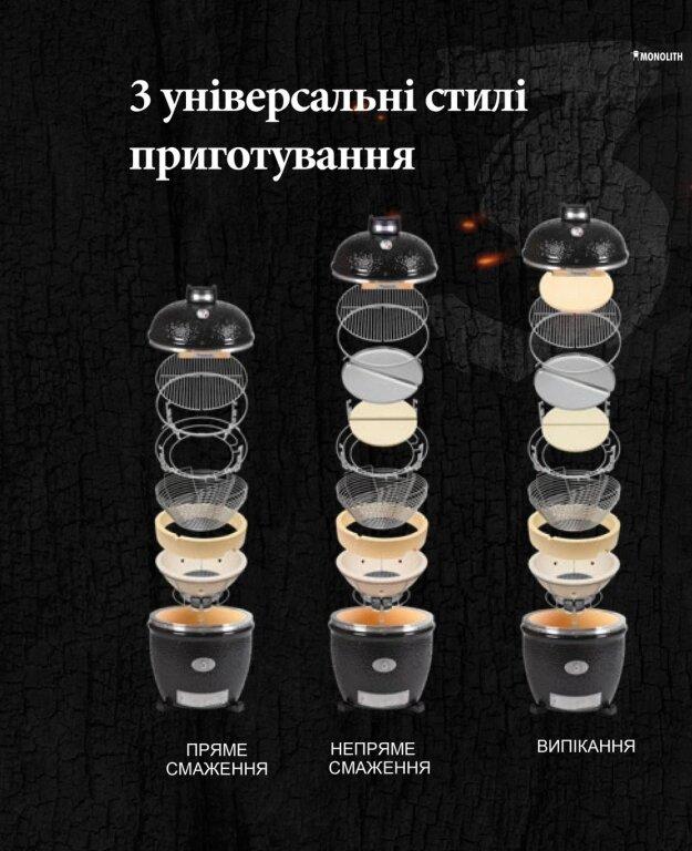 Керамічний гриль Monolith Le Chef PRO-SERIES 1.0 на ніжках