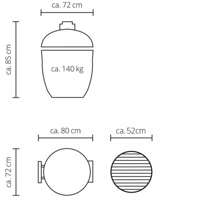 Керамічний гриль Monolith Le Chef PRO-SERIES 1.0