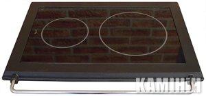 Кухонная керамическая плита HTT 5A с чугунной рамкой