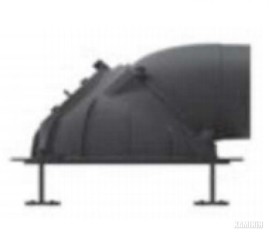 Литий купол ∅180 з кришкою для чищення (вкл. хомуты)