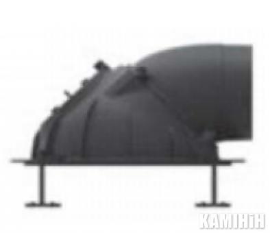 Литой купол ∅180 с крышкой для чистки (вкл. хомуты)