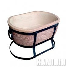Oval ceramic grill