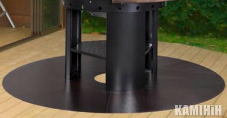 Напольна плита Ø 200 см сталь