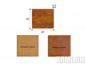 Плита из стали кортен Luxum 60х60