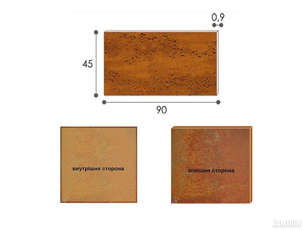 Декоративная панель из стали кортен 45x90