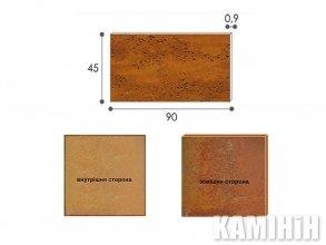 Плита з сталi кортен Luxum 45x90