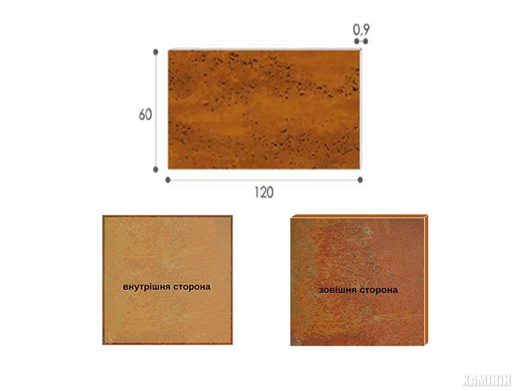 Декоративная панель из стали кортен 60x120