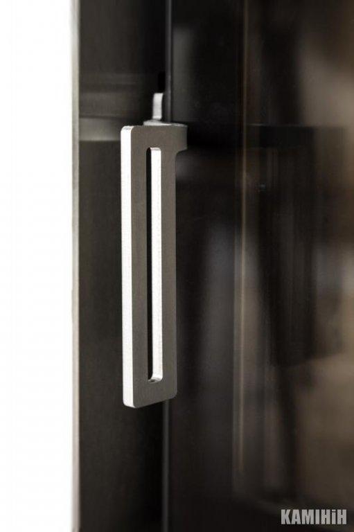Плоска ручка чорна, кутова лівоостороннє відкриття дверей