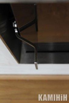 Плоска ручка з нерж. сталі, кутова, лівостороннє відкриття двері