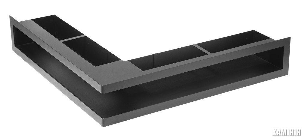 """Решітка вентиляційна для каміну """"V - OPEN-L"""" 500х500/70-ML кутова"""