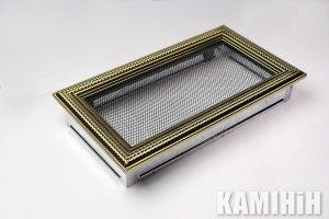 Решітка вентиляційна для каміну 17х30 ратан