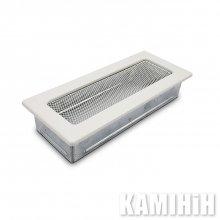 Решітки вентиляційні для каміну 10,5х25 біла