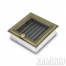 Решітка вентиляційна для каміну 17х17 ратан з жалюзі