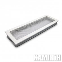 Ventilation grate for a fireplace h white