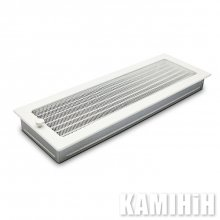 Ventilation grate for a fireplace h gold plated louvers