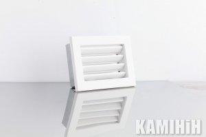 """Решітка вентиляційна для каміну 200x145 """"V"""" з жалюзі, біла"""