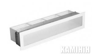 """Решітка вентиляційна для каміну """"V - OPEN"""" 450х100-ML з рамкою"""